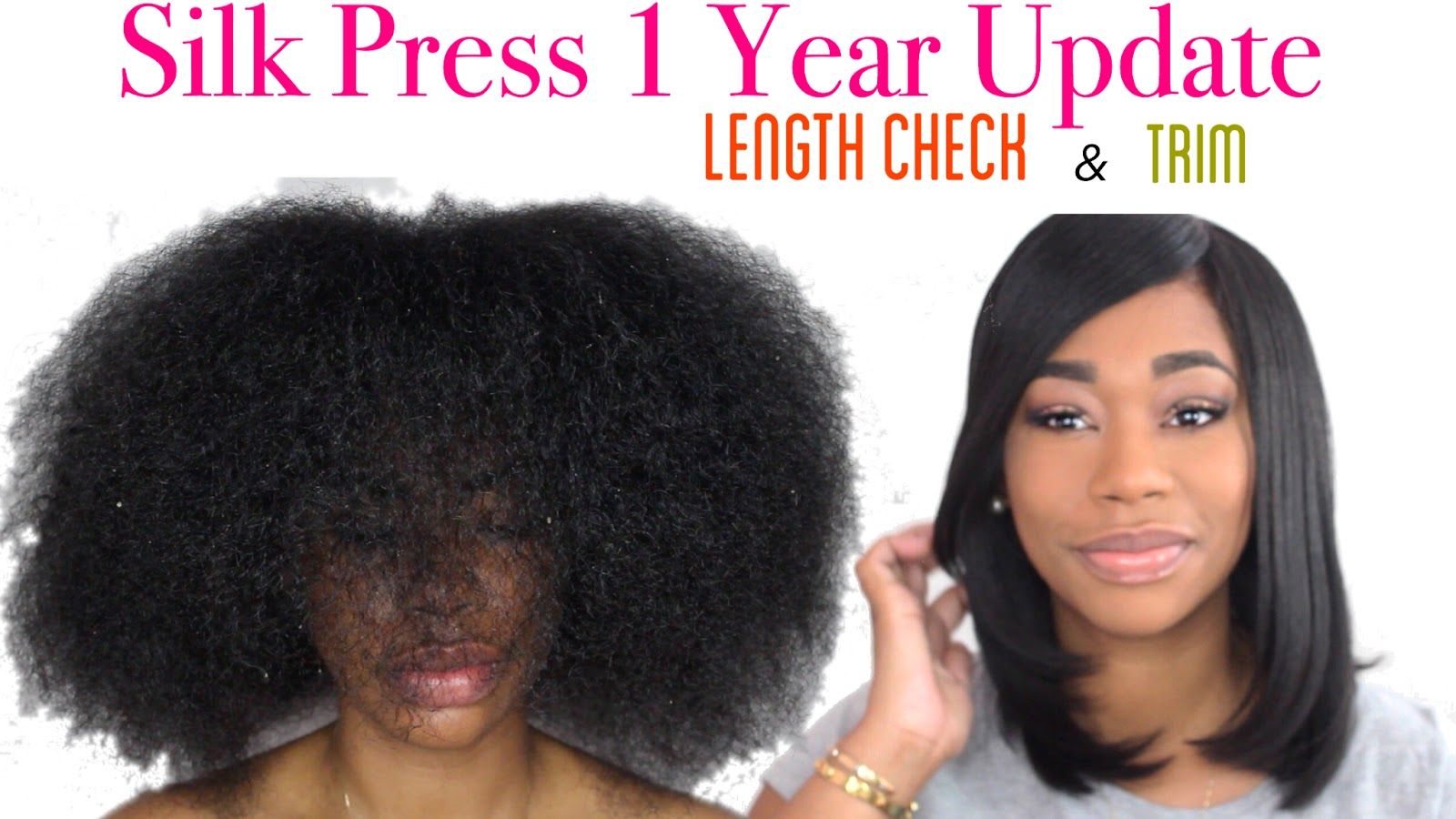 Silk Press: How to Trim, And Wrap My Natural Hair Tutorial