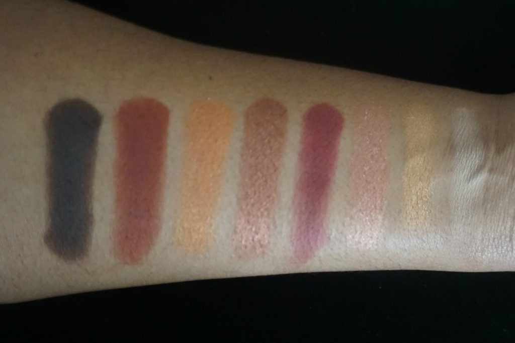 smashbox cover shot swatches