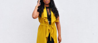 Casual In Mustard Yellow & Shirt Dress