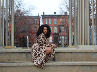 Animal Print In A Trench