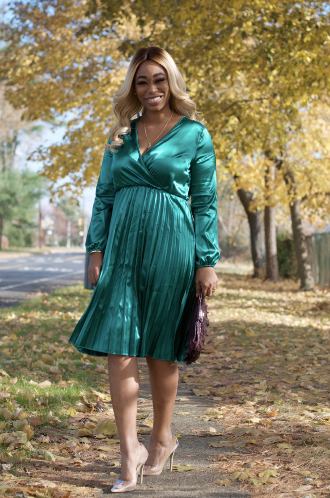chimere nicole beautiful black woman in green dress