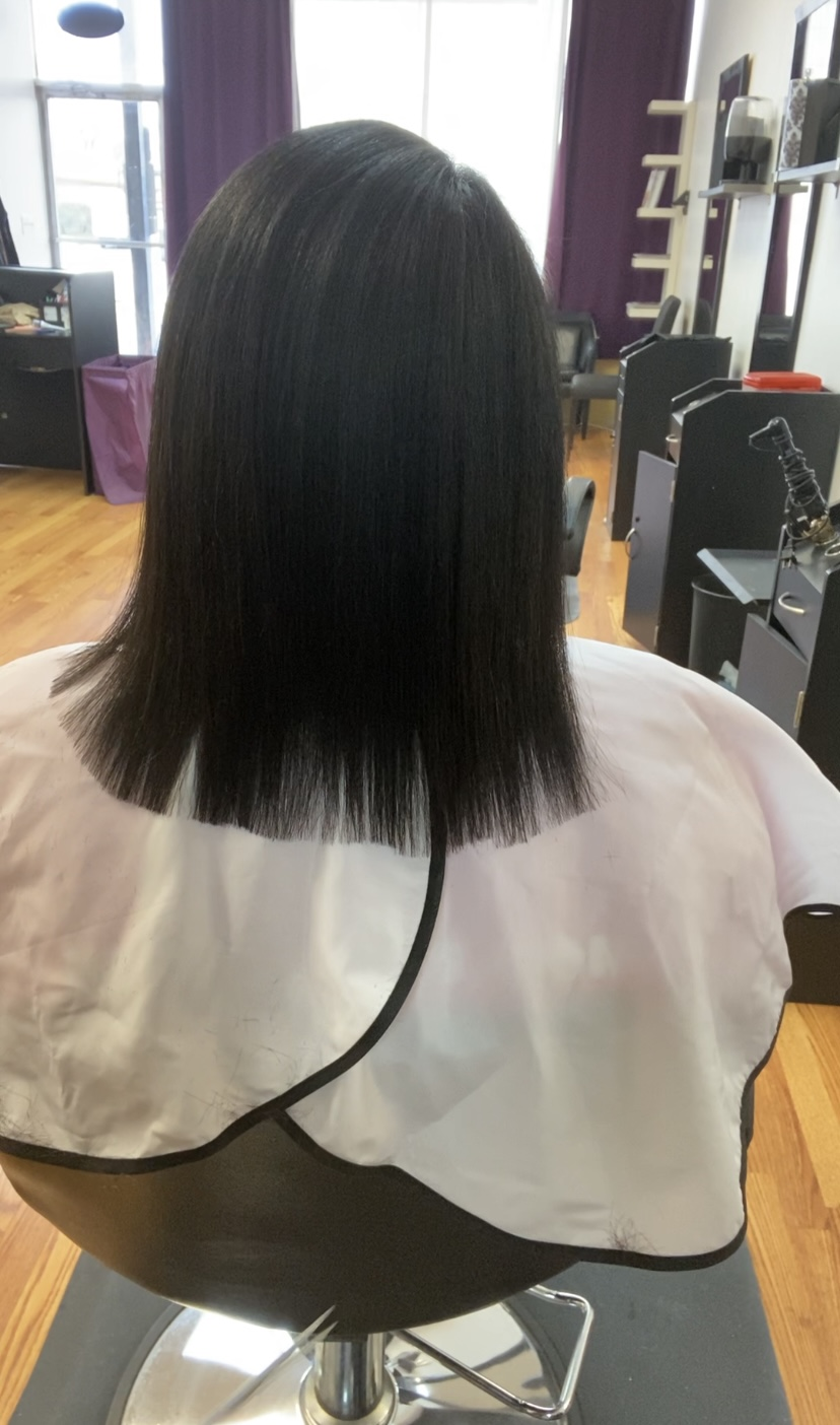 4c hair after silk press