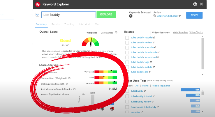 how to use tubebuddy to search keywords and make money
